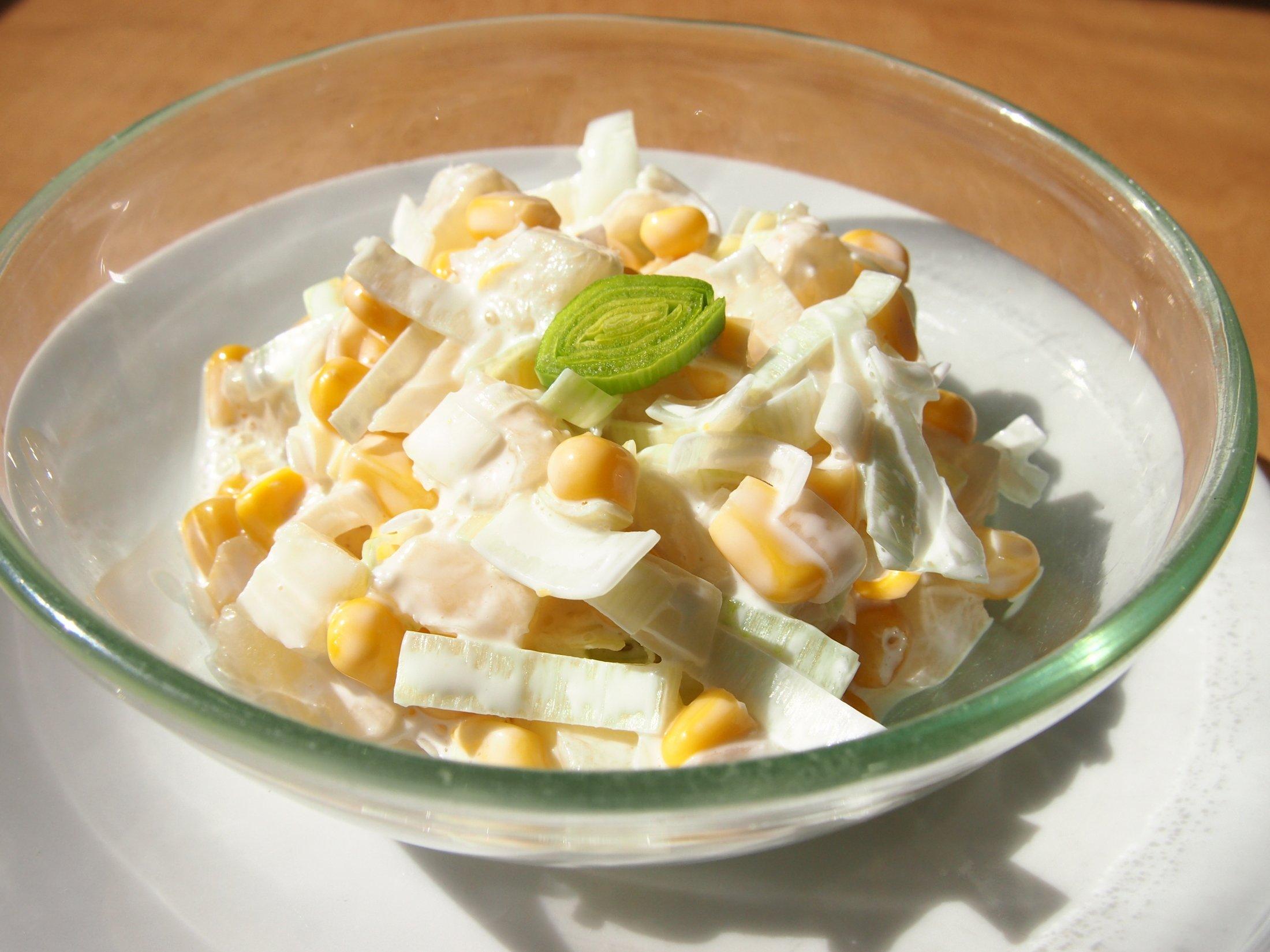 Pórkový salát s ananasem