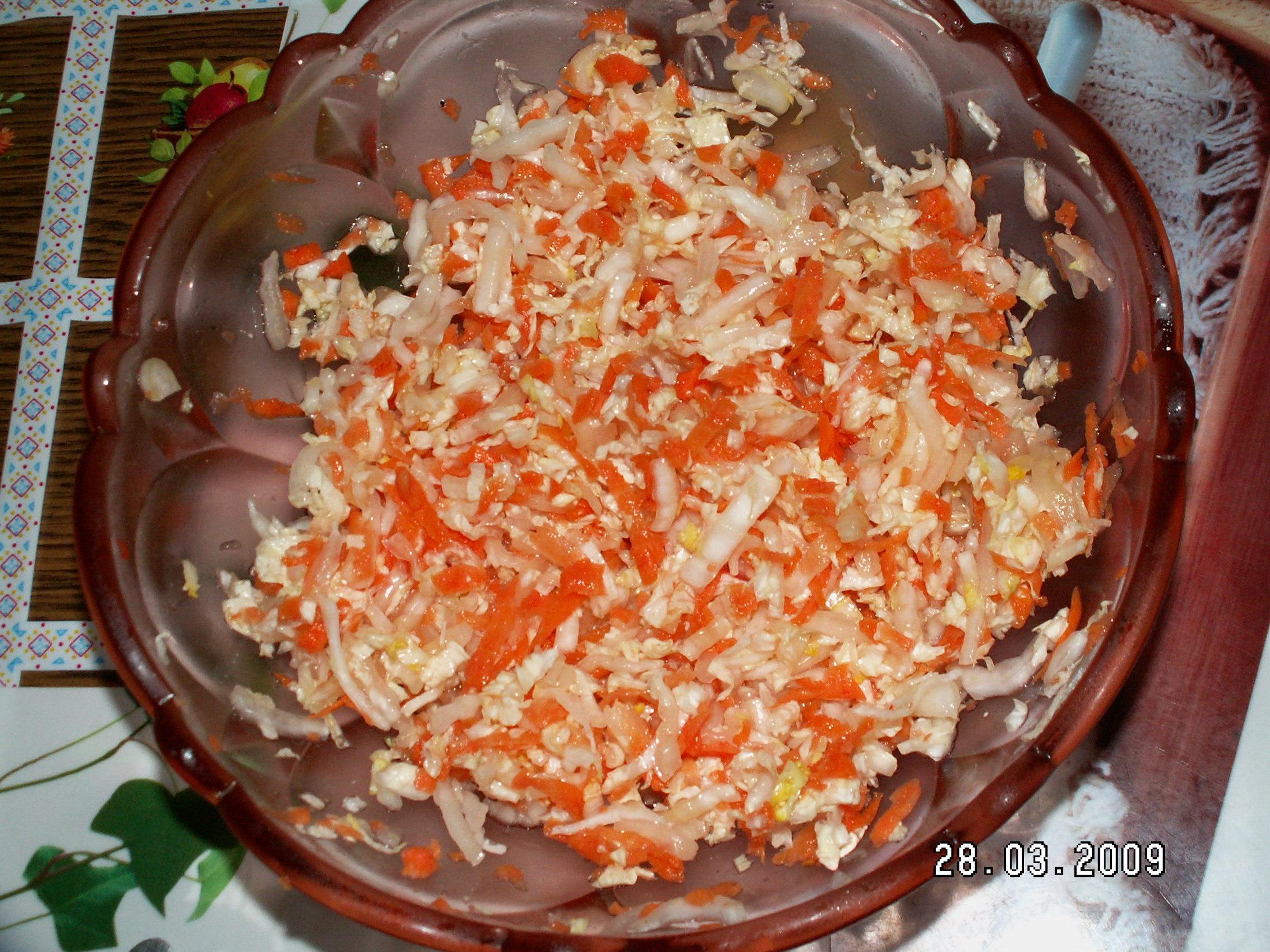 Salát z čínského zelí 1