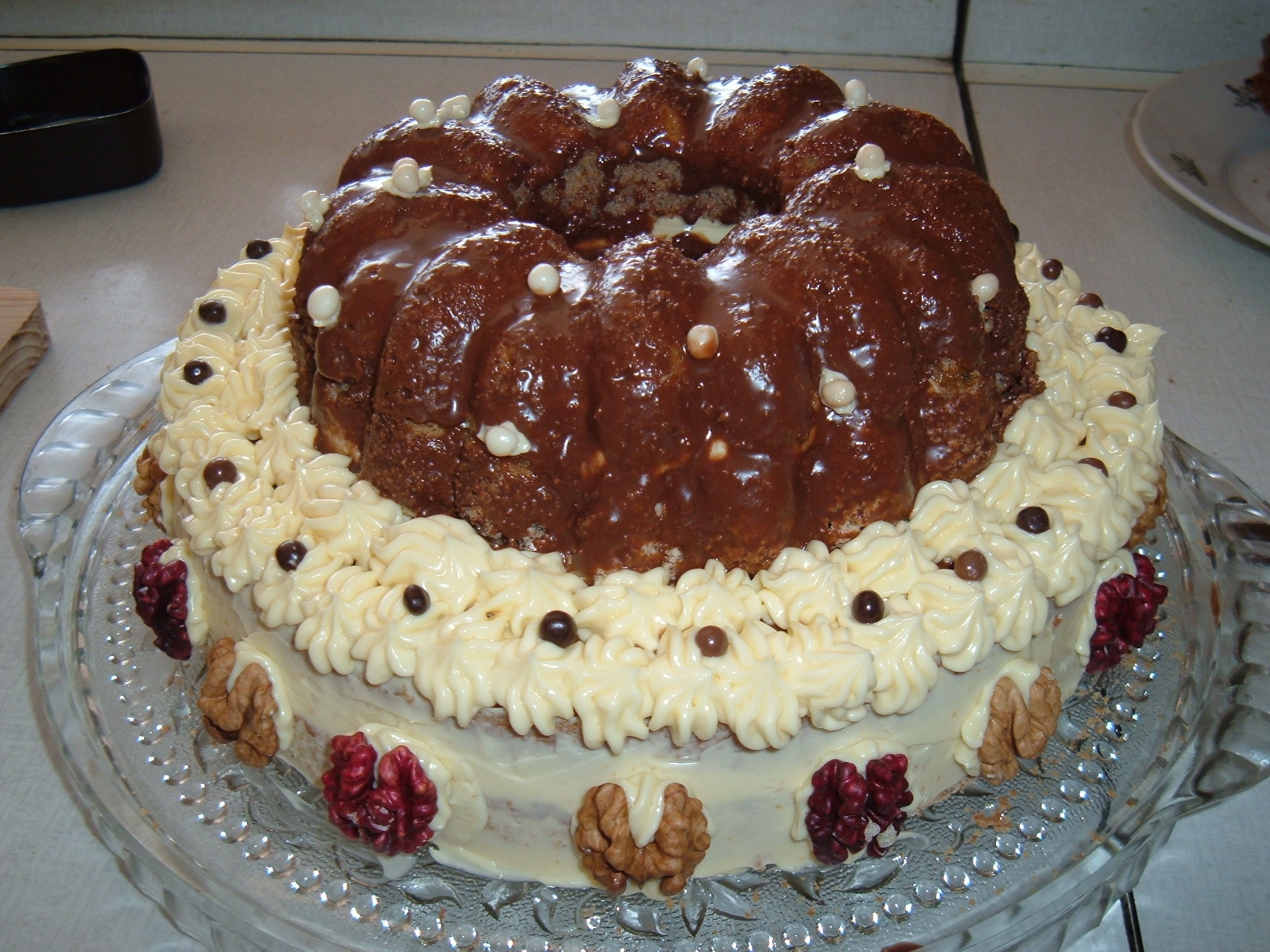 Výborný ořechový dort