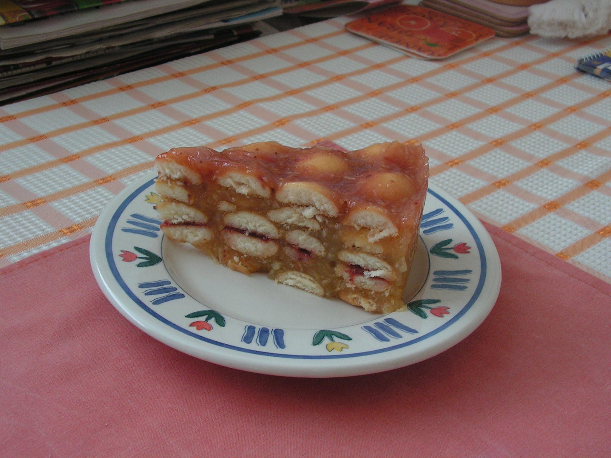 Recept Nepečený jablečný dort - jablečný dortík