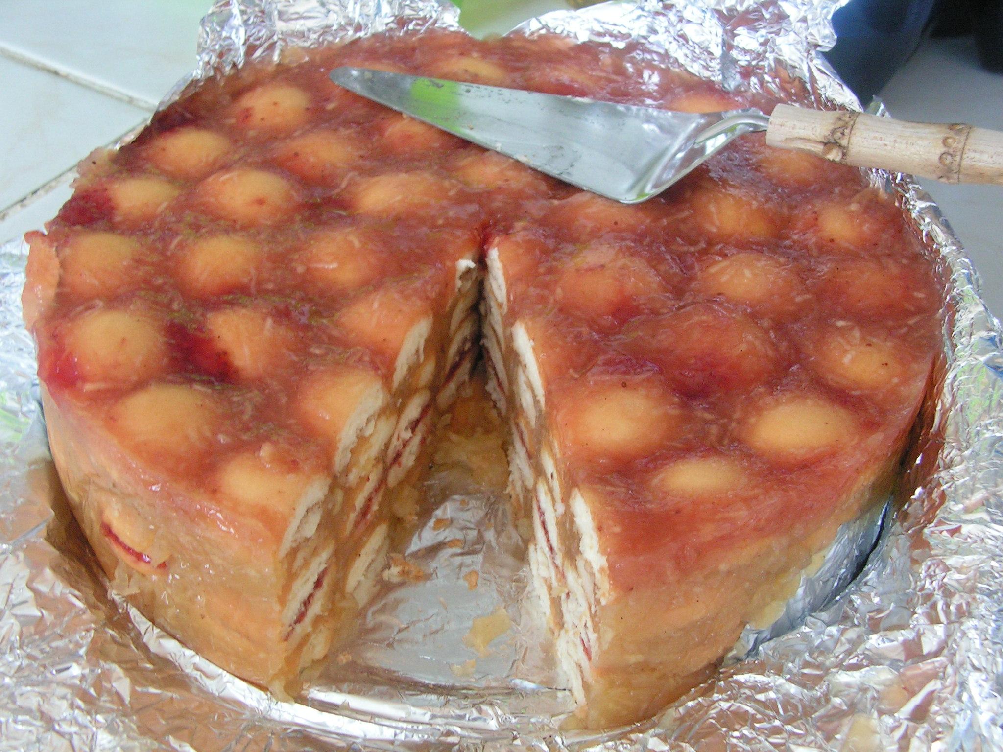 Recept Nepečený jablečný dort - Právě zakrojený...