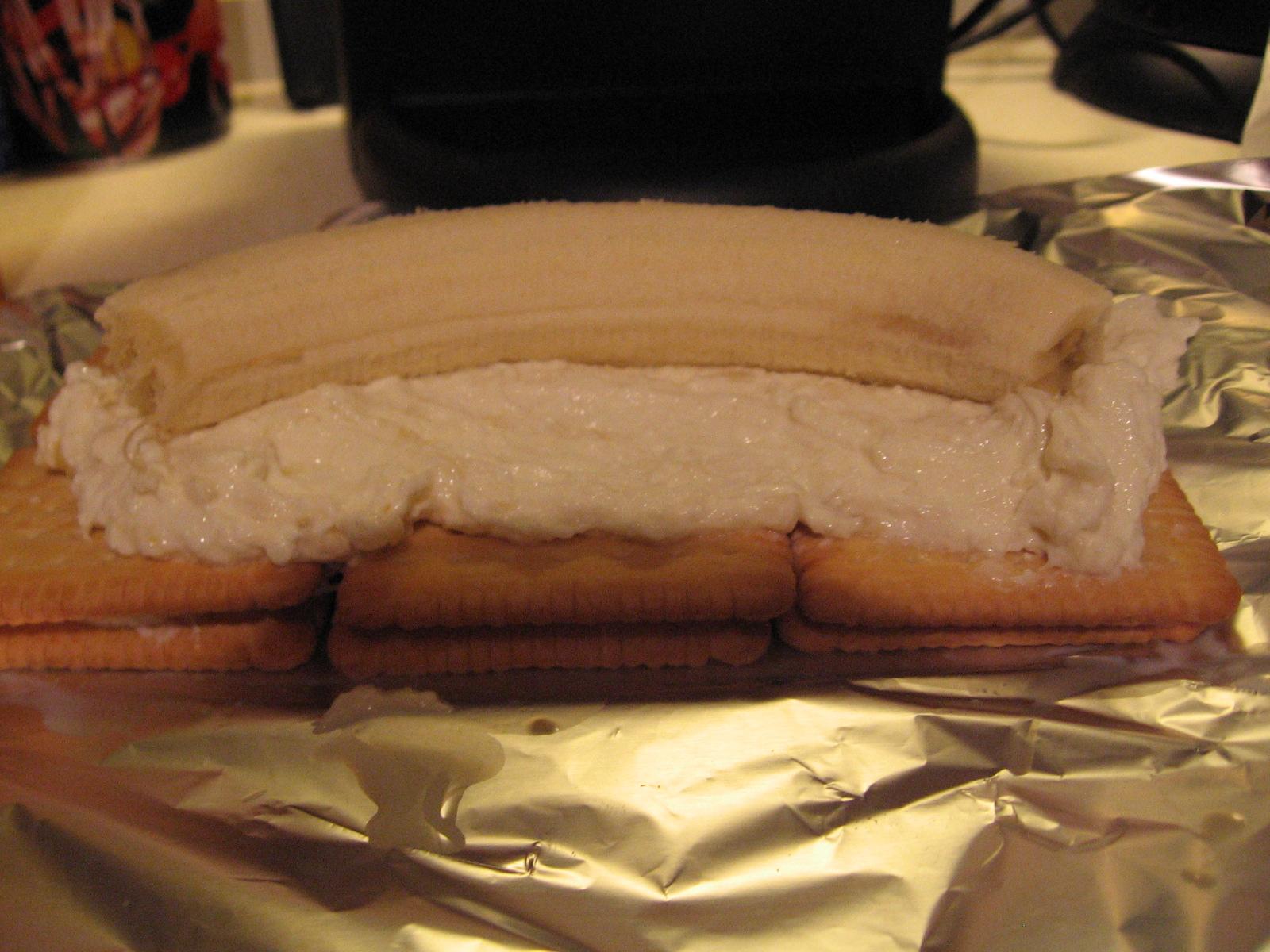 Recept Banánová střecha - Základ bebe sušenek s banánem.