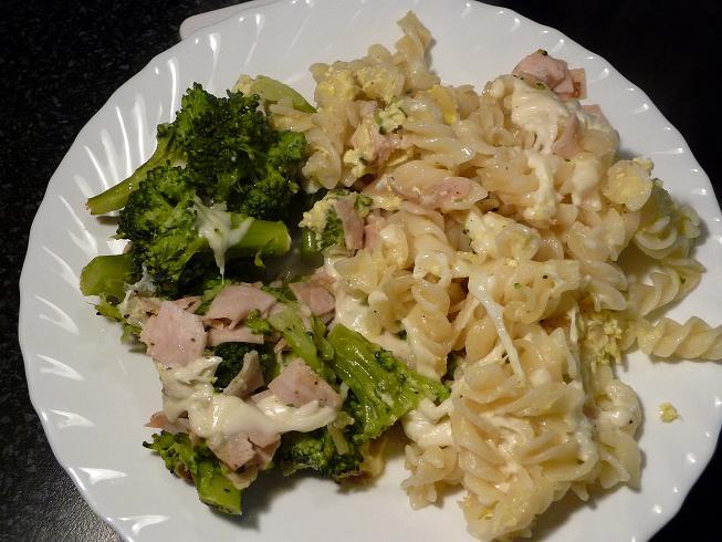 Recept Brokolice s těstovinami - Brokolice s těstovinami - bylo to opravdu dobré.