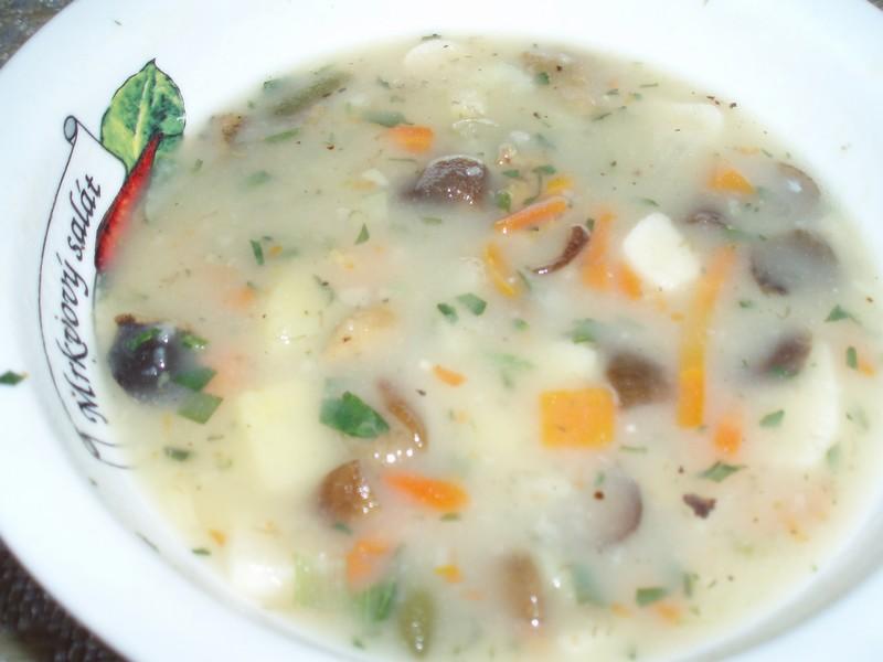 Recept Houbová bramboračka - bramboračka s hříbky