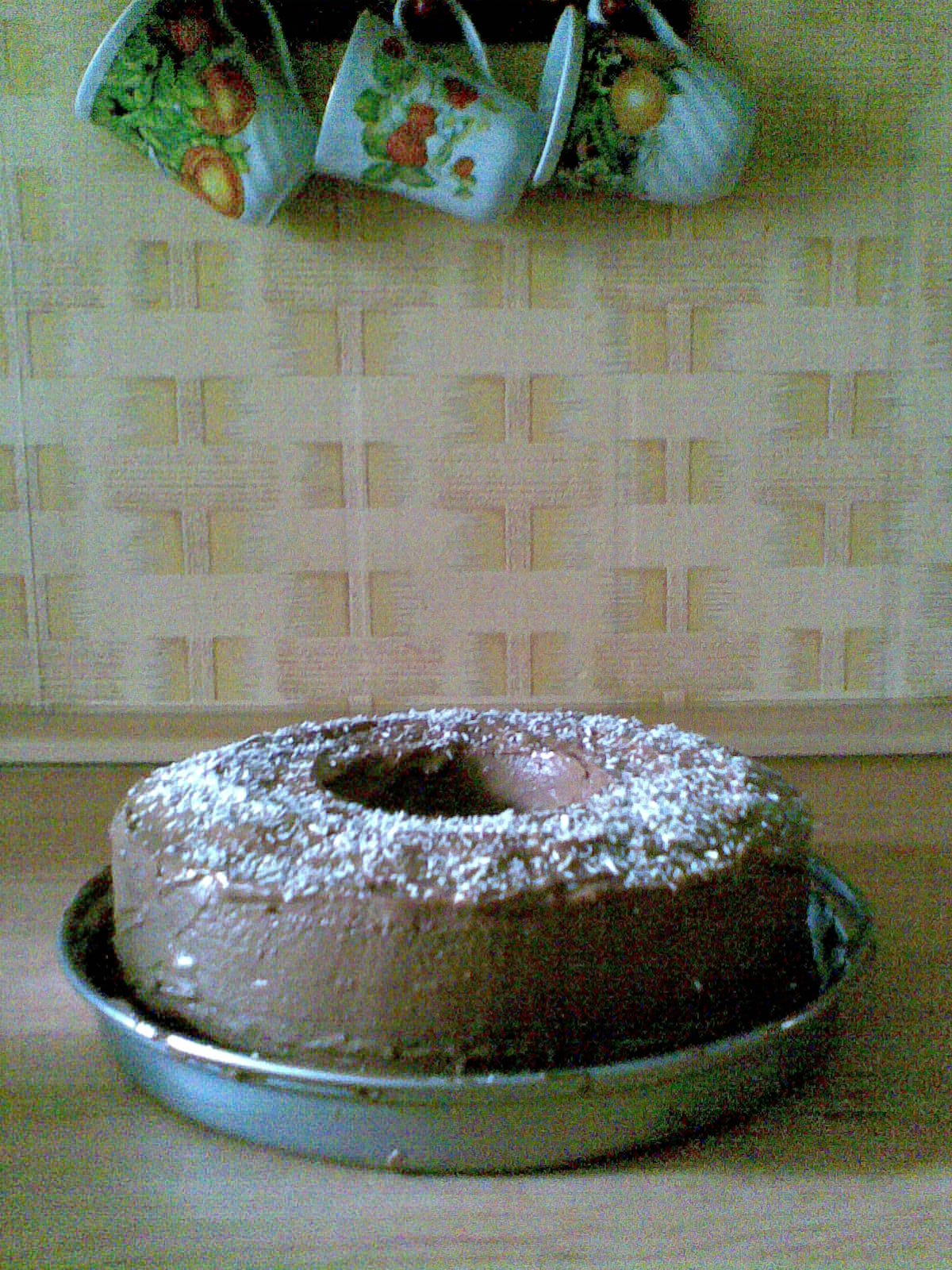 Recept Babiččina olejová bábovka - olejová bábovka s čokoládou a posypaná kokosem