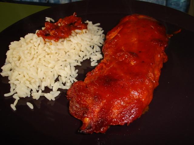 Pikantní červené kuře
