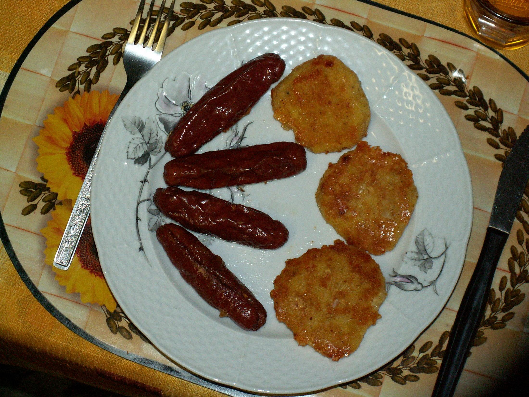 Fotografie receptu: Bramborové placky z kaše