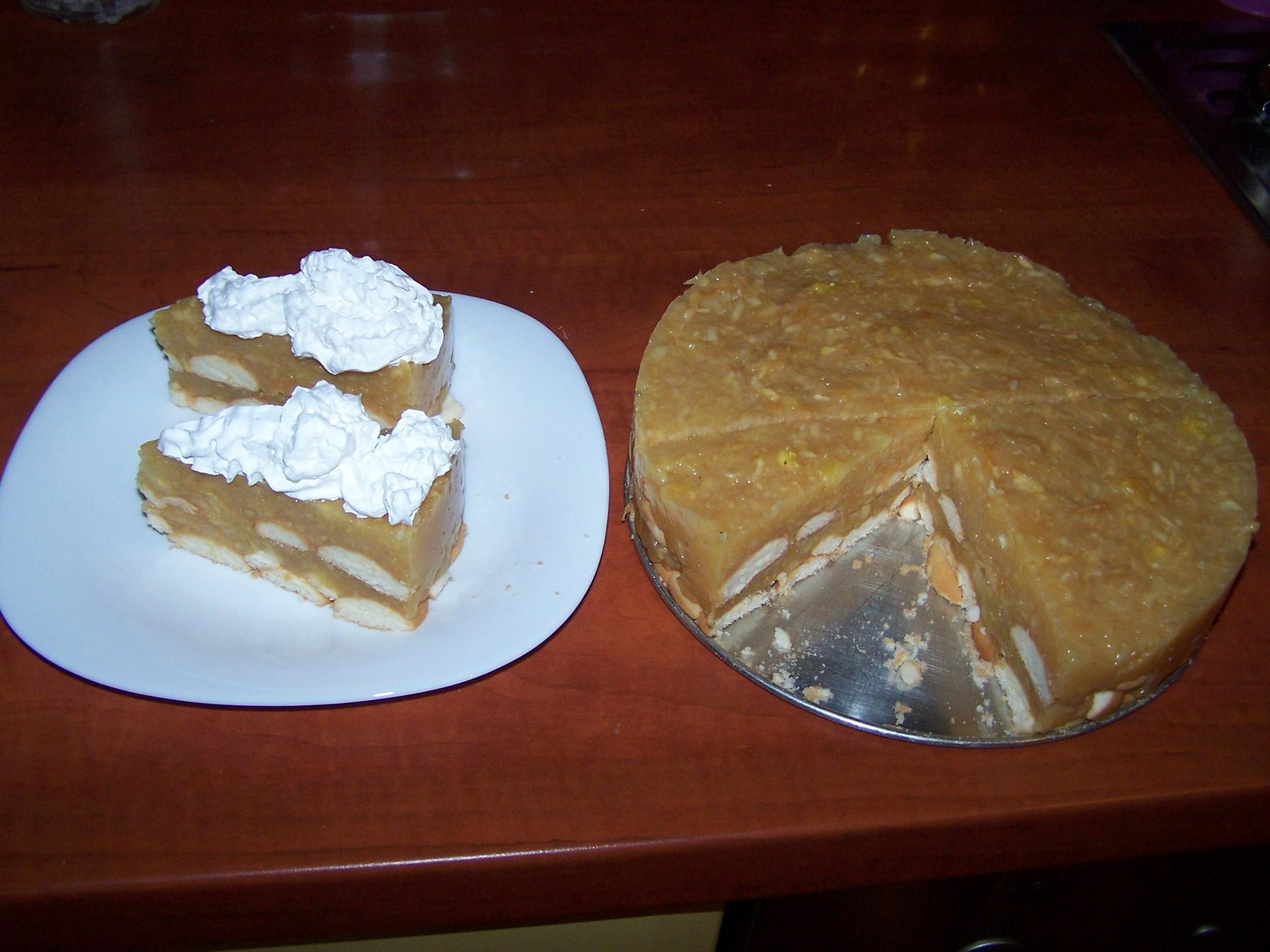 Nepečený dort s jablky -