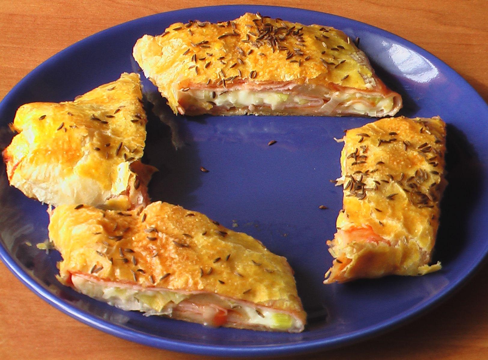 Fotografie receptu: Slaný závin z listového těsta
