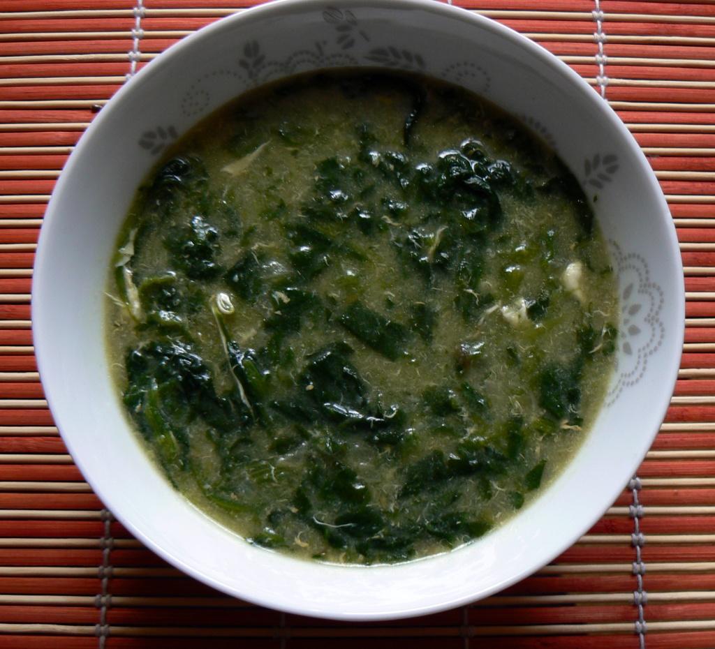 Fotografie receptu: Rychlá špenátová polévka