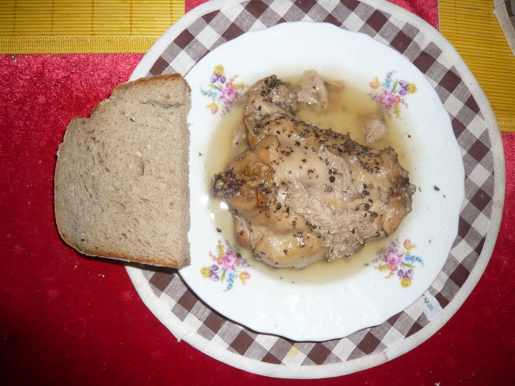 Recept Tradiční pečený králík - Pečený králík.