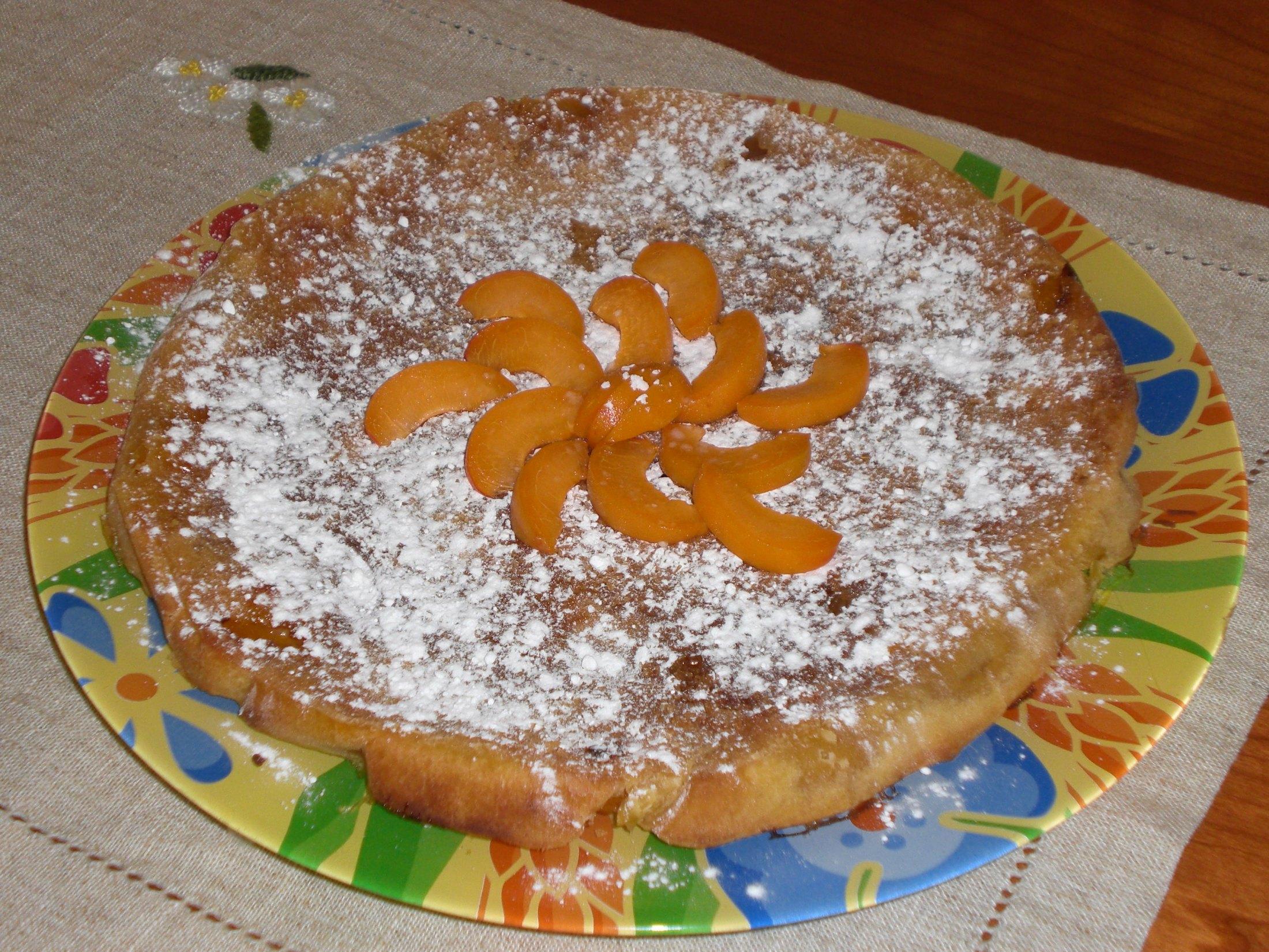 Sváteční meruňkový koláč