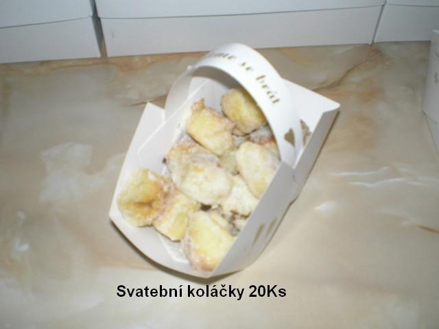 Recept Křehké svatební koláčky - Svatební koláčky v košíčku.