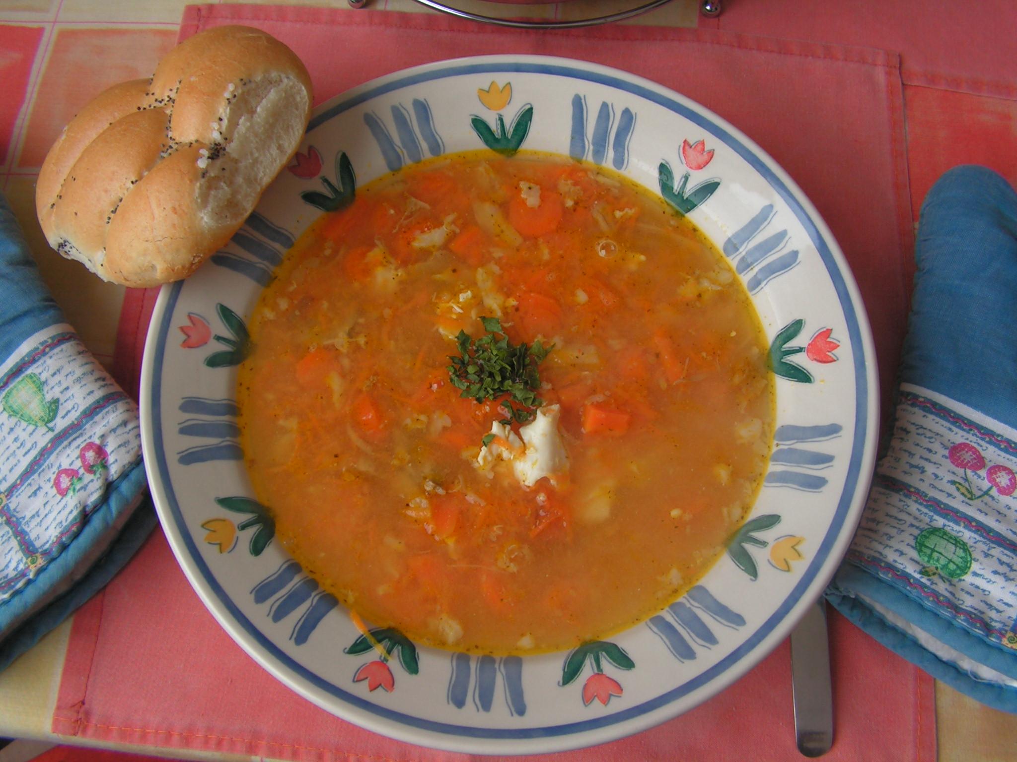 Venkovská mrkvová polévka