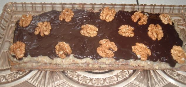 Recept Ořechové řezy bez mouky - hotový