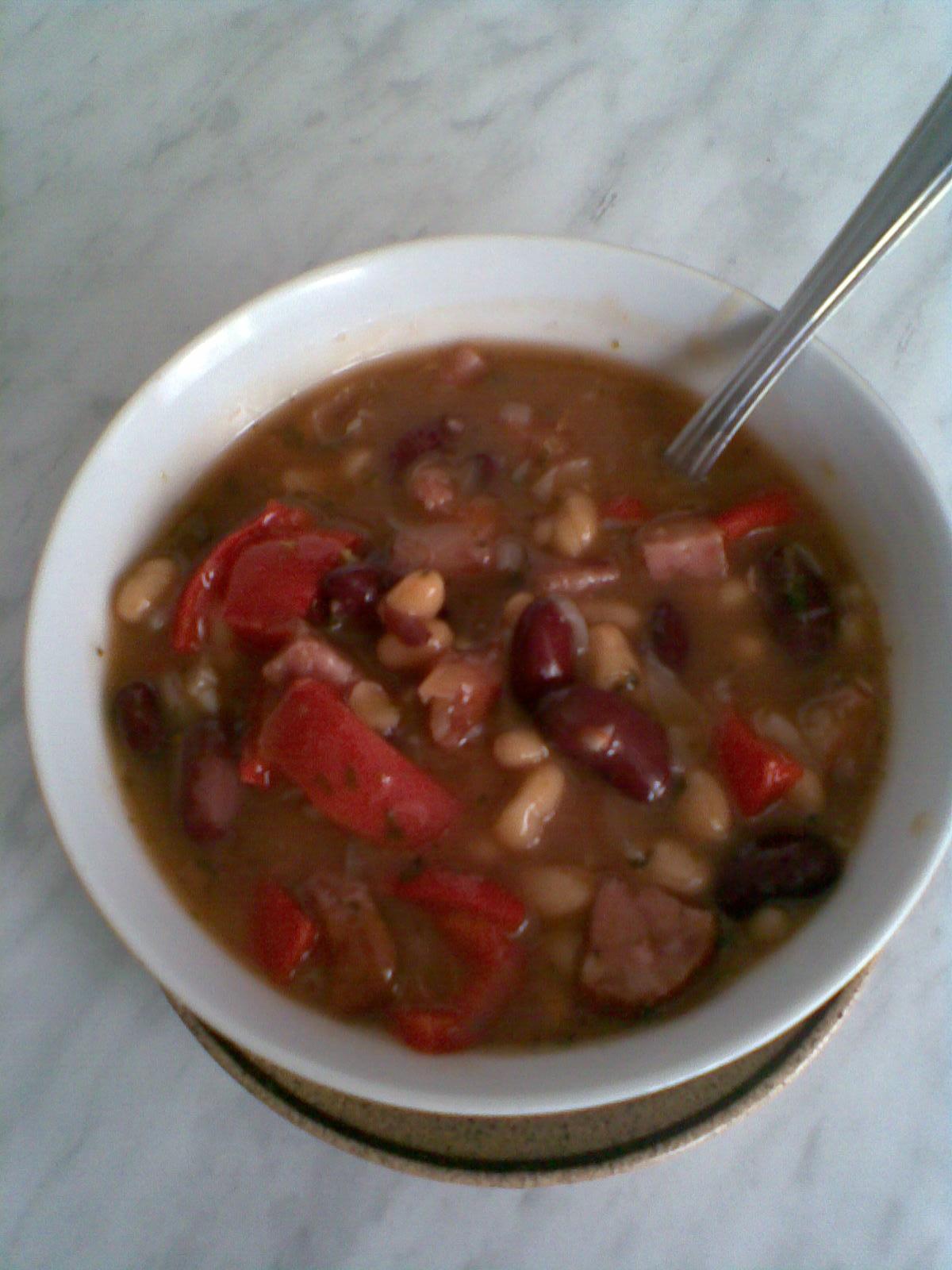 Fotografie receptu: Mexické fazole s masem