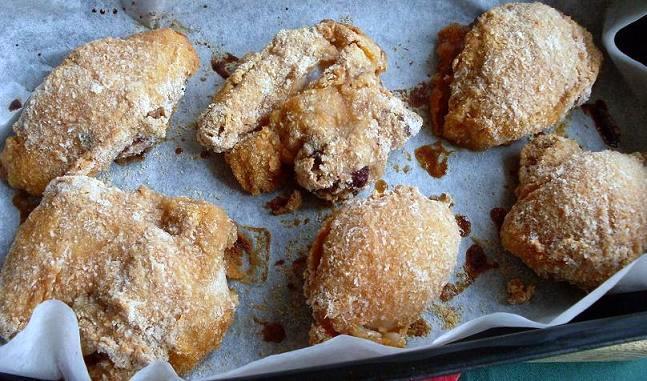 Recept Kuře smažené v troubě - druhé potření kuřete