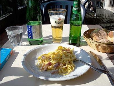 Pikantní špagety se sýrem