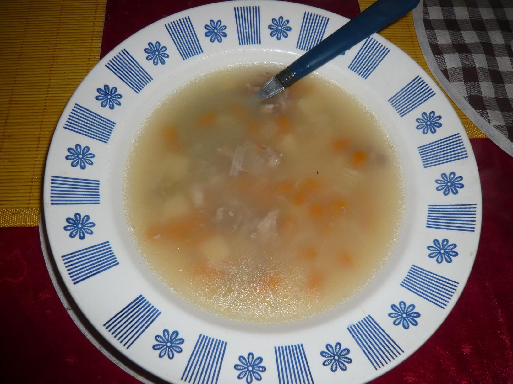 Polévka z kuřecích krků