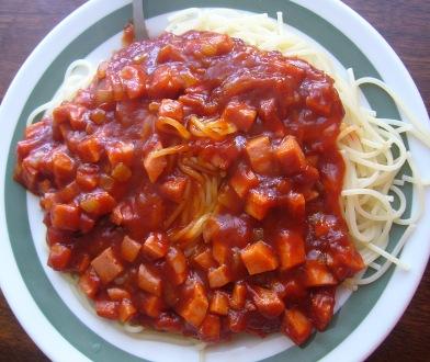 Špagety Dubina