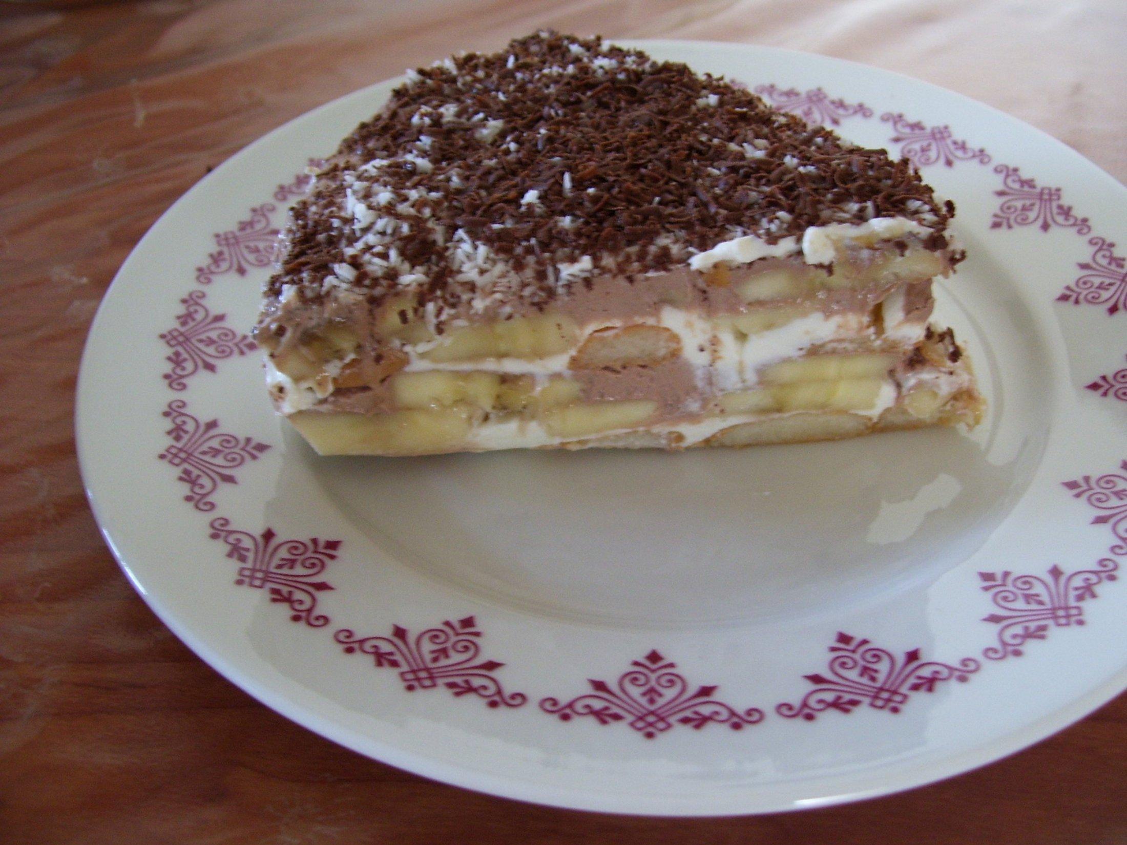 Smetanový dort s banány