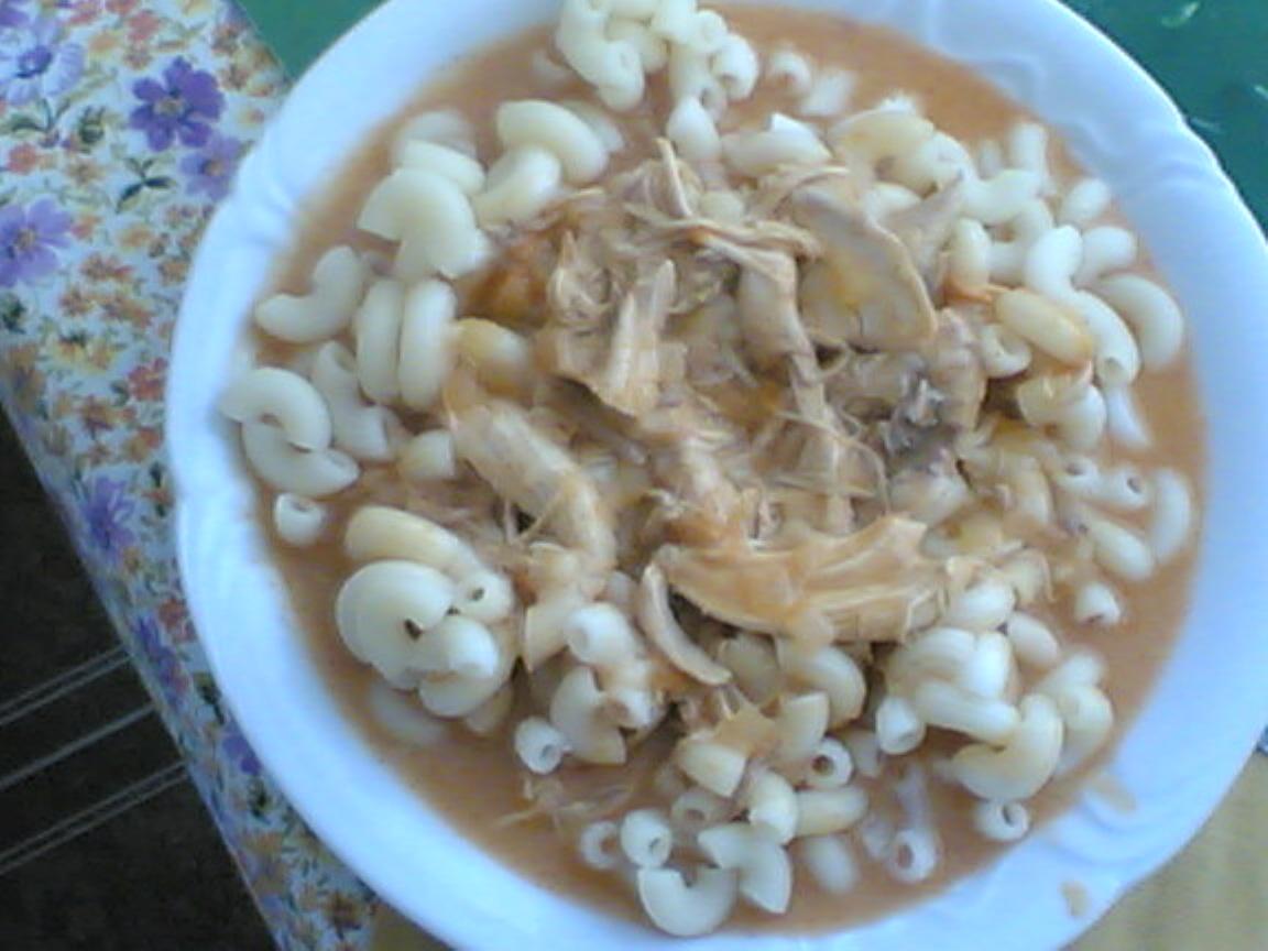 Recept Naše kuře na paprice - Kuře na paprice s těstovinami.