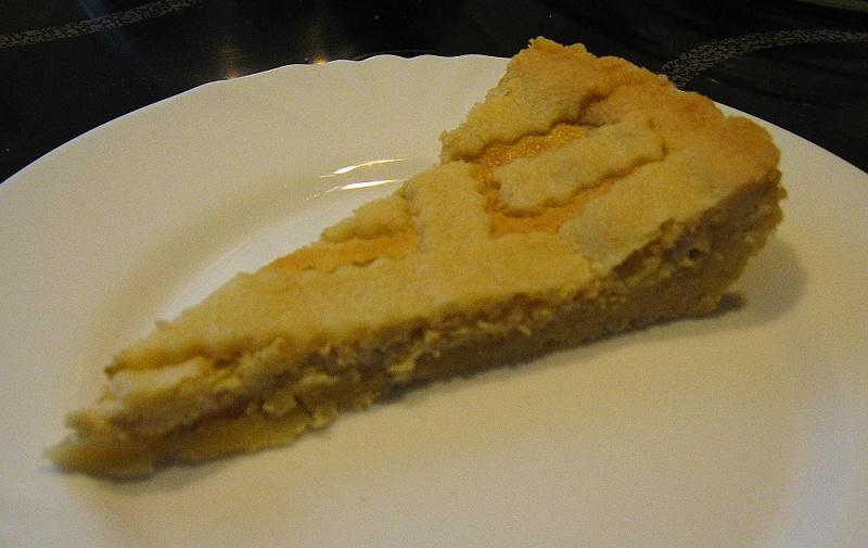 Linecký broskvový koláč