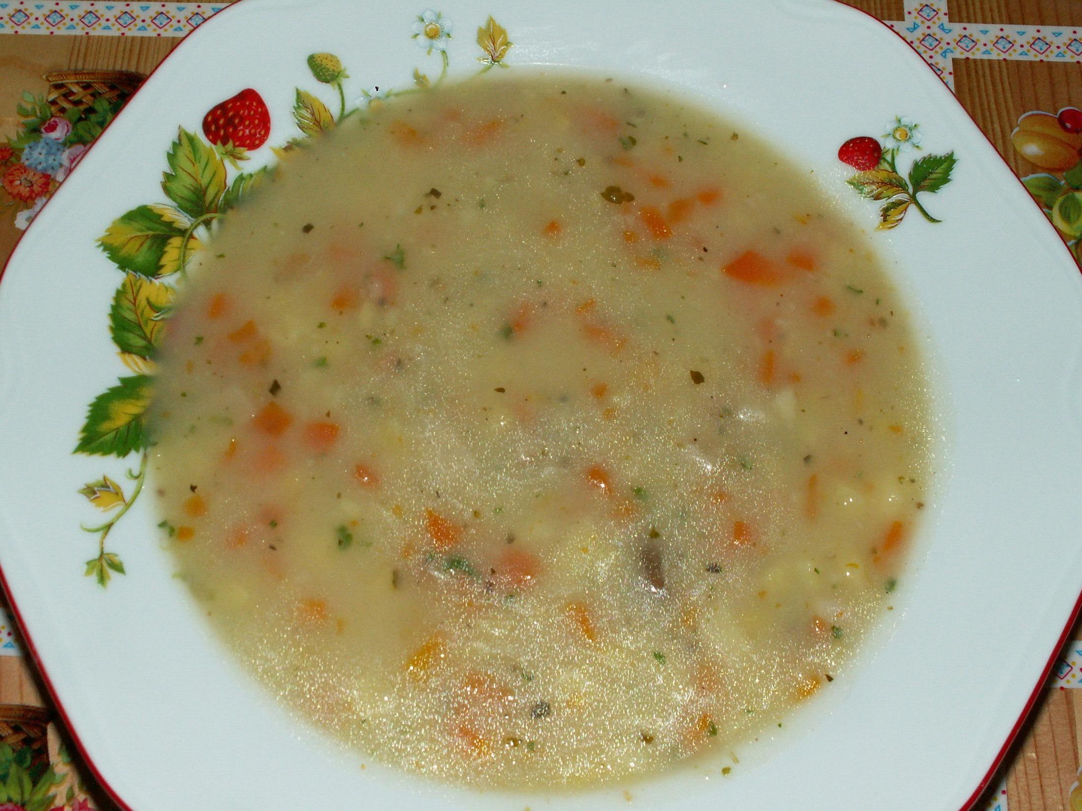 Recept Babiččina bramboračka - Naservírovaná bramboračka.