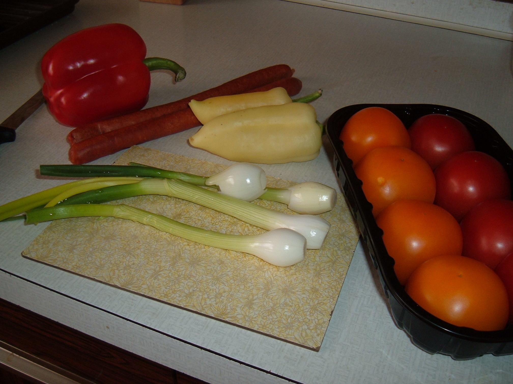 Recept Zeleninové lečo - Zelenina připravená na přípravu leča.