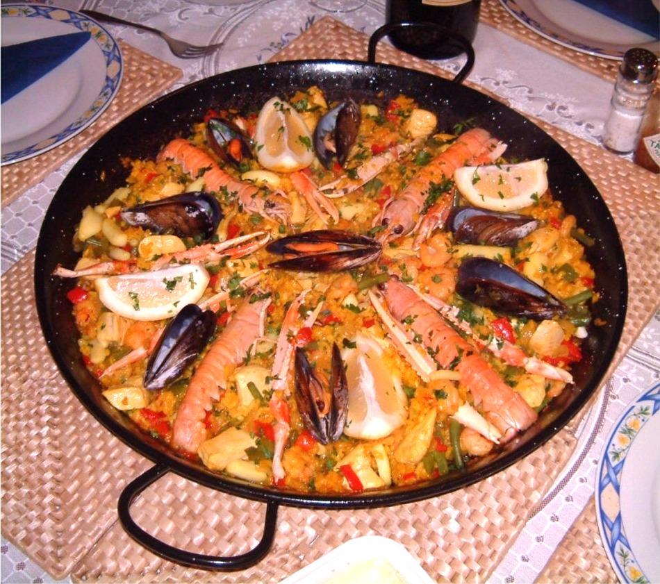 Recept Španělská paella - Paella de marisco - pochoutka z mořských plodů.
