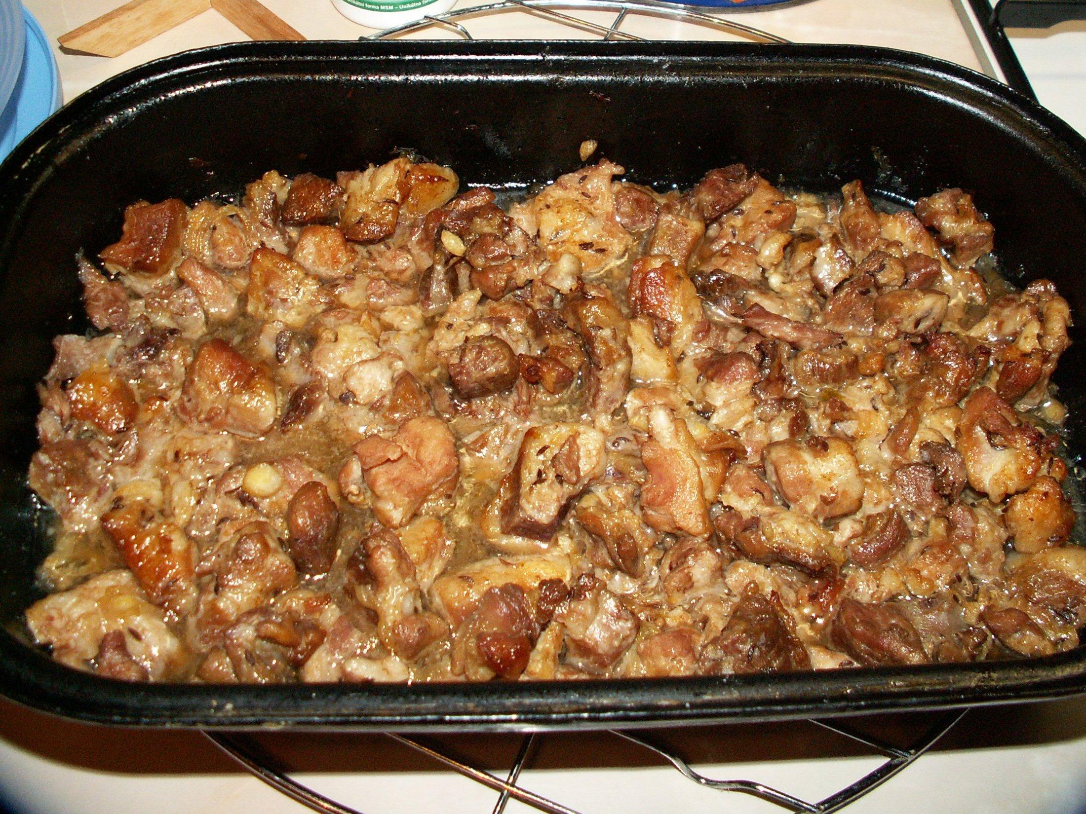Recept Moravský vrabec - Hotoví vrabci.