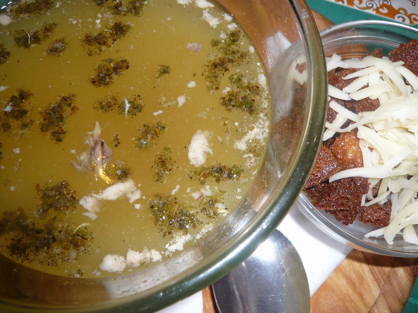 Recept Česnečka 1 - Příprava česnečky.