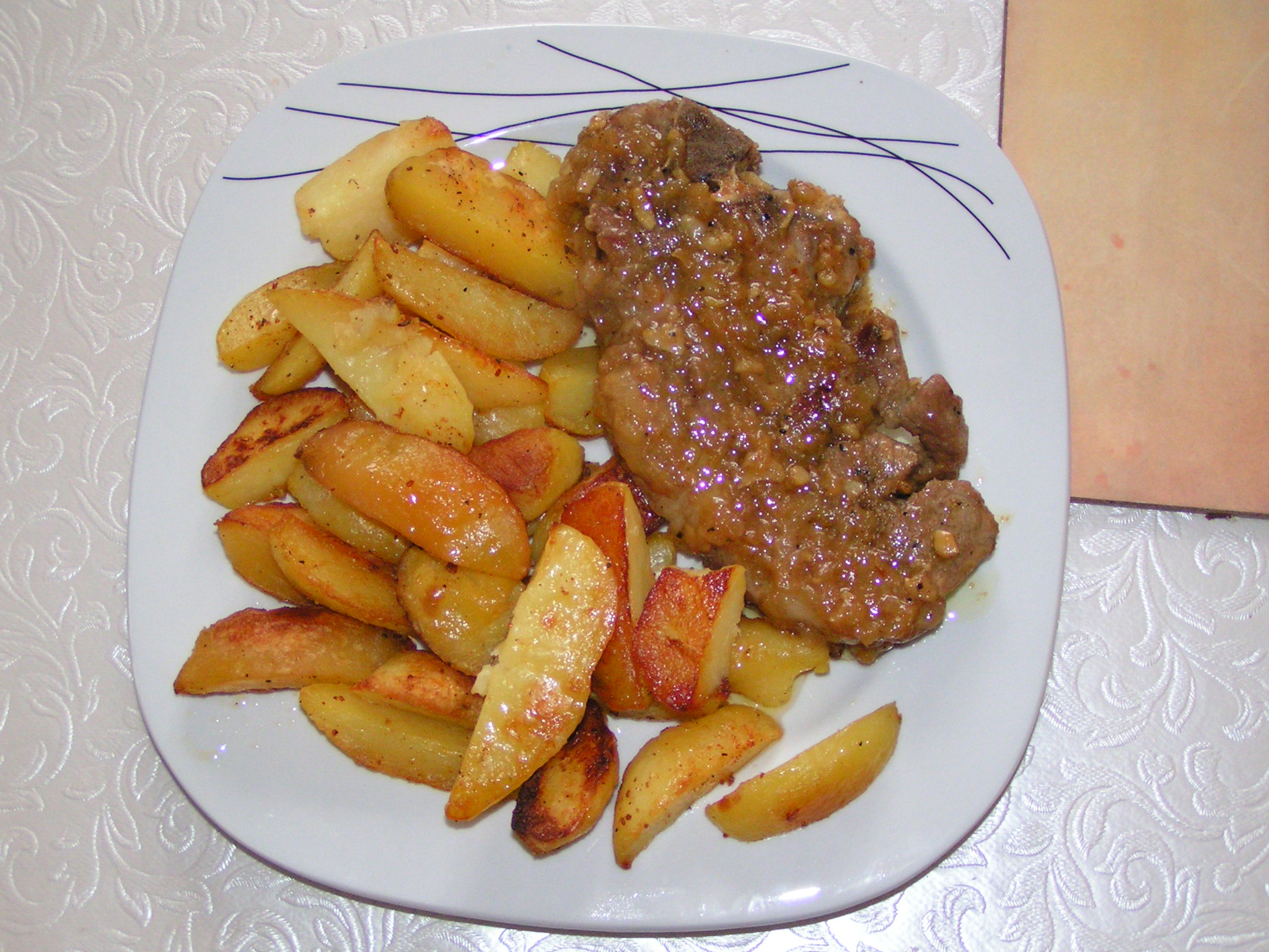 Vepřové steaky s restovanou šalotkou