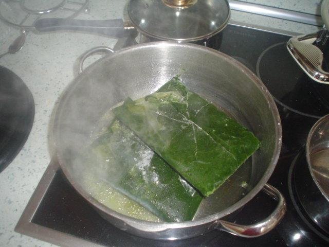 Recept Špenátové těstoviny - mražený špenát necháme rozpustit