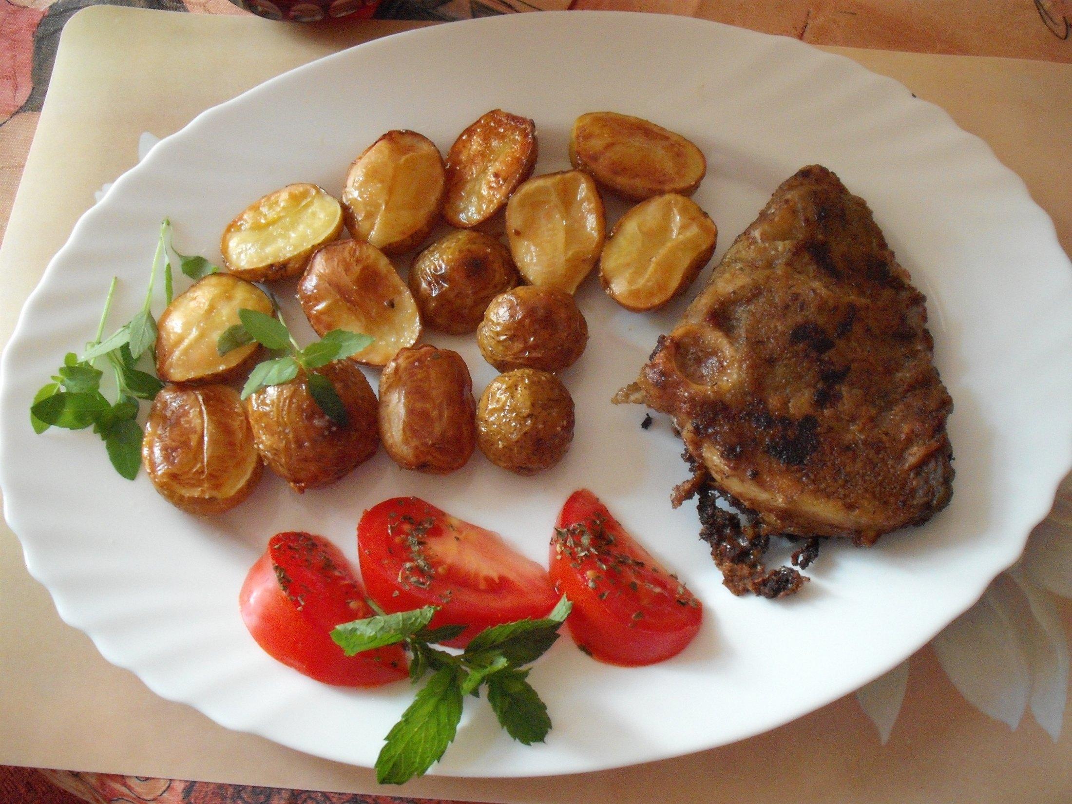 Recept Pečený žralok - Skvělá pochoutka - žralok s pečenými brambory.