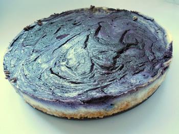 Borůvkový cheesecake