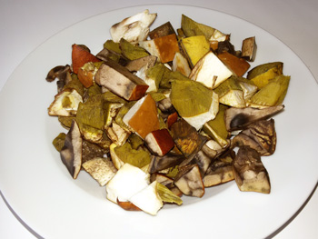Kuřecí stehna s houbami