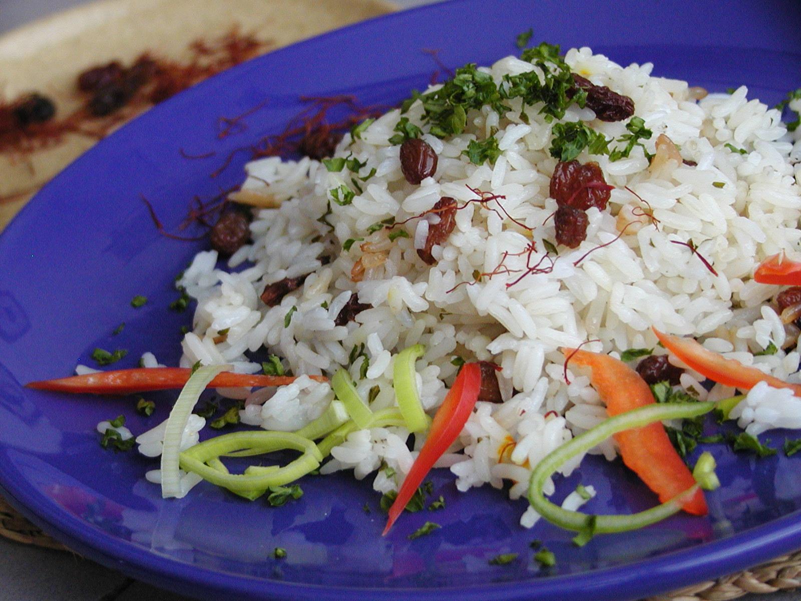 Rýže s rozinkami