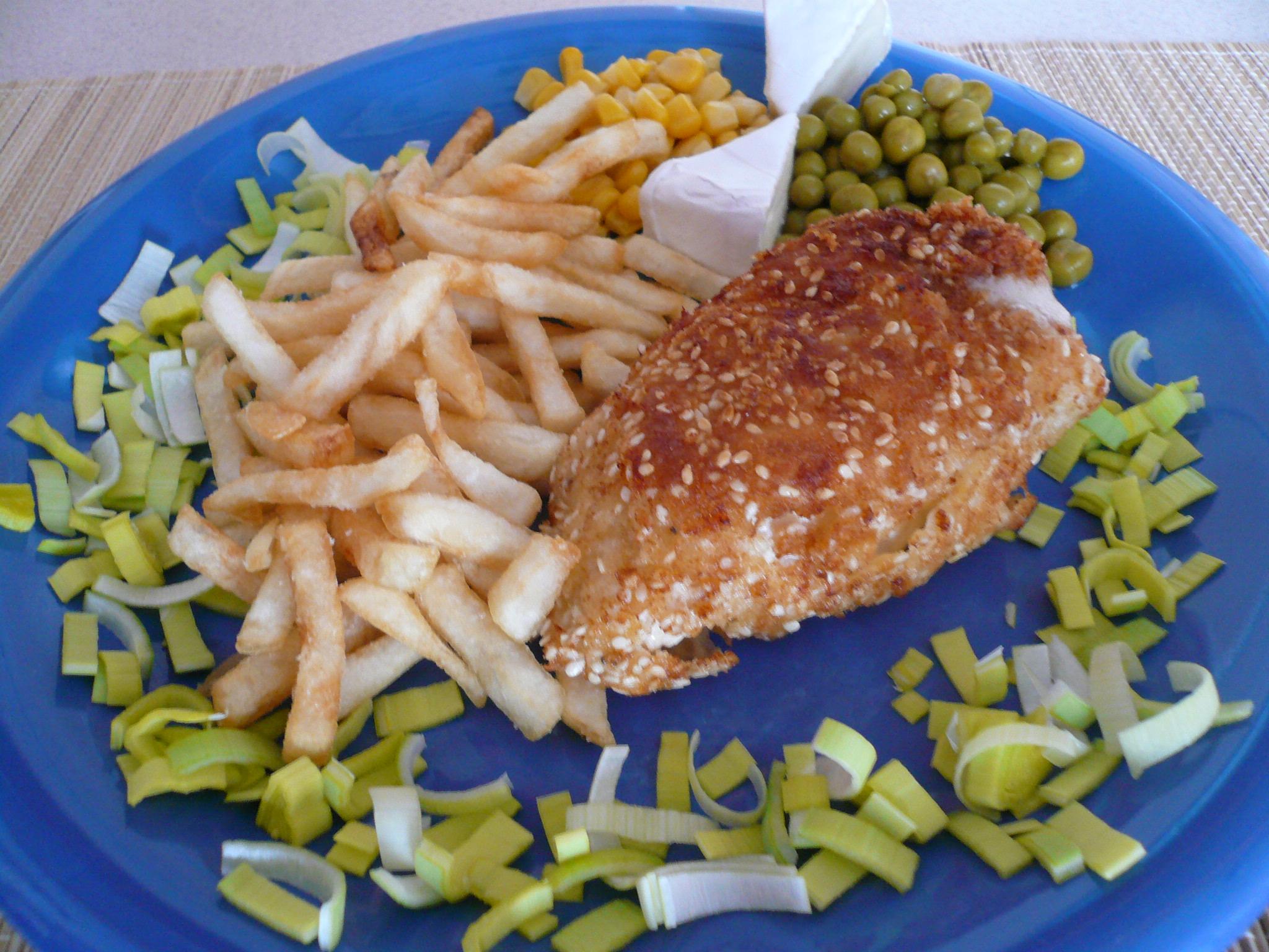 Kuřecí závitek v sezamu