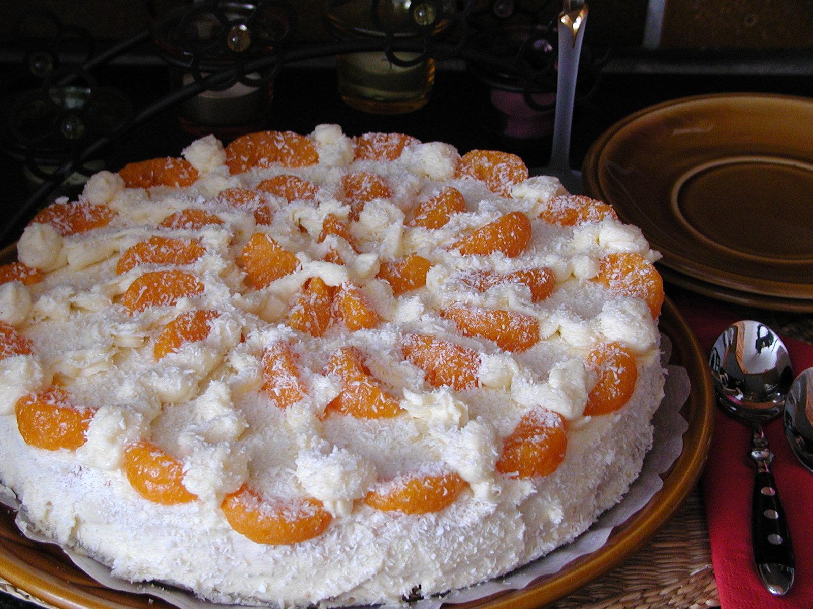 Mandarinkový dort s krémem