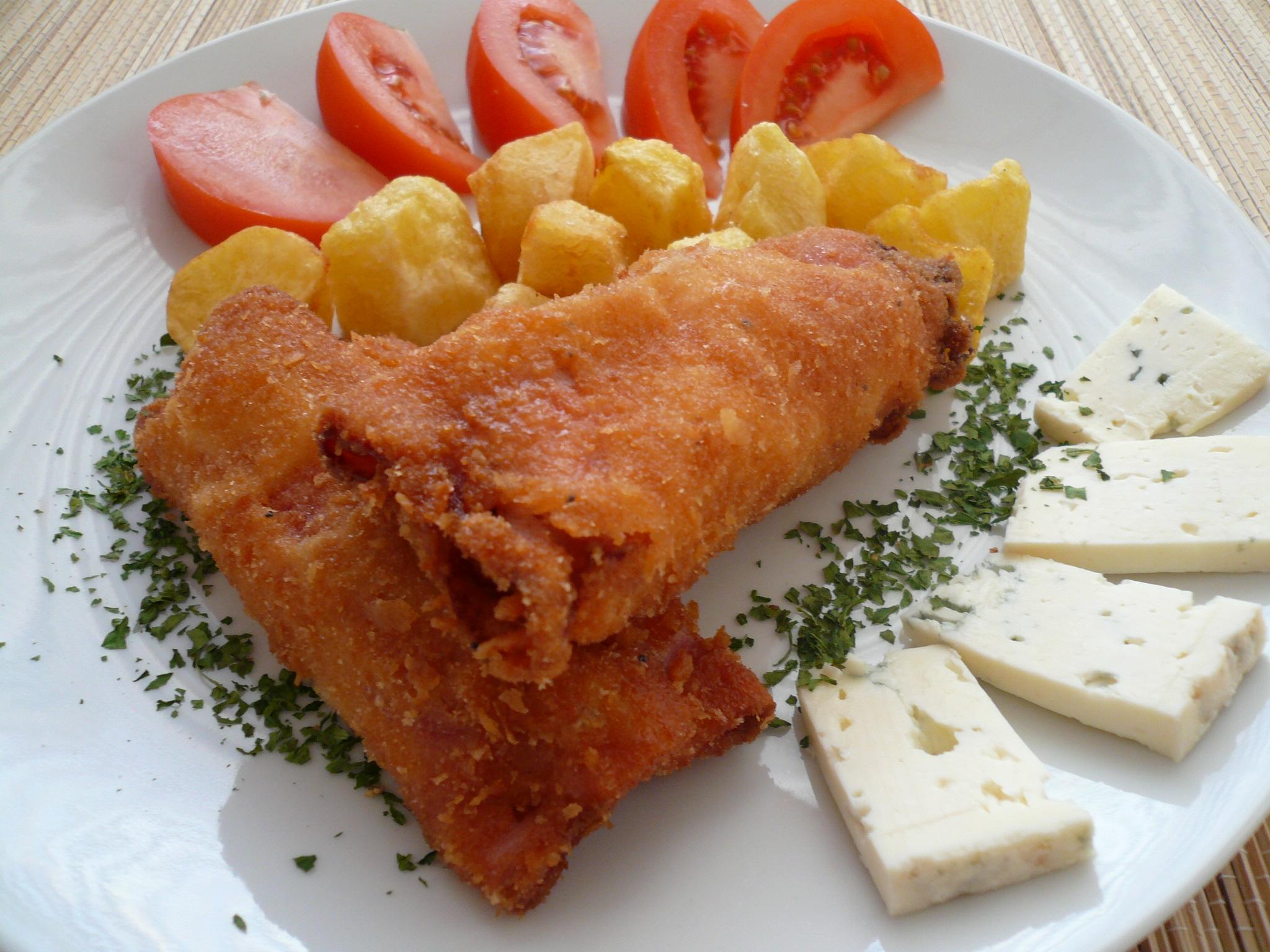 Fotografie receptu: Šunkové rolky s kuřecím masem