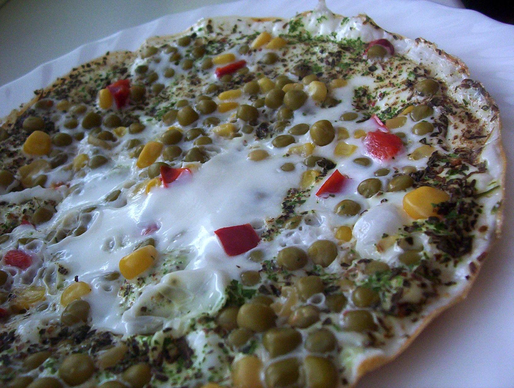 Bílková zeleninová omeleta