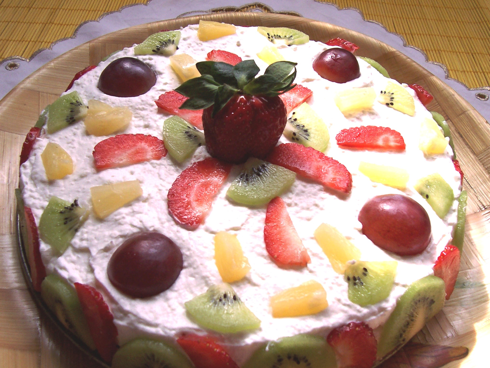 Exotický jogurtový dort