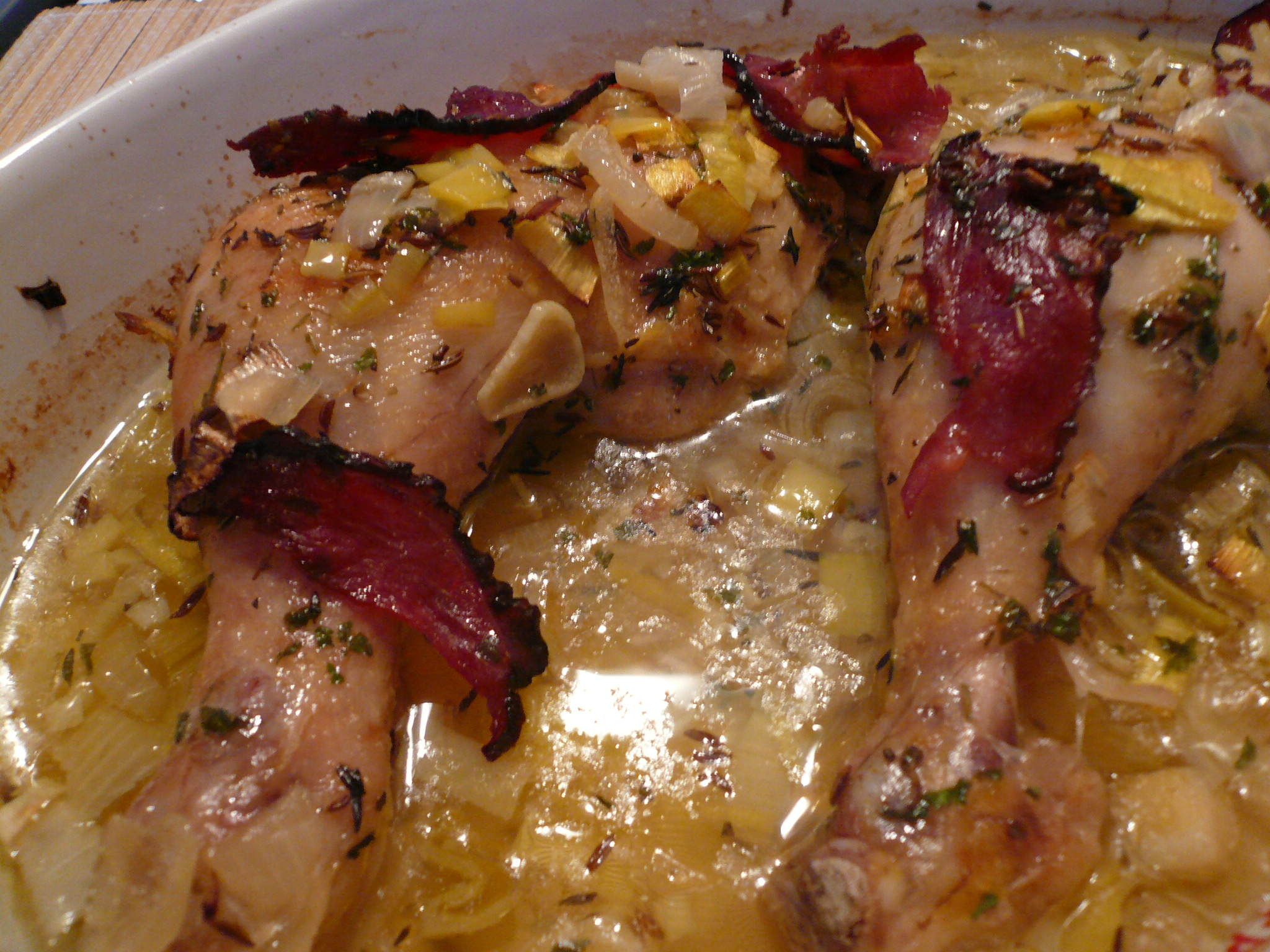 Pečené kuřecí stehno