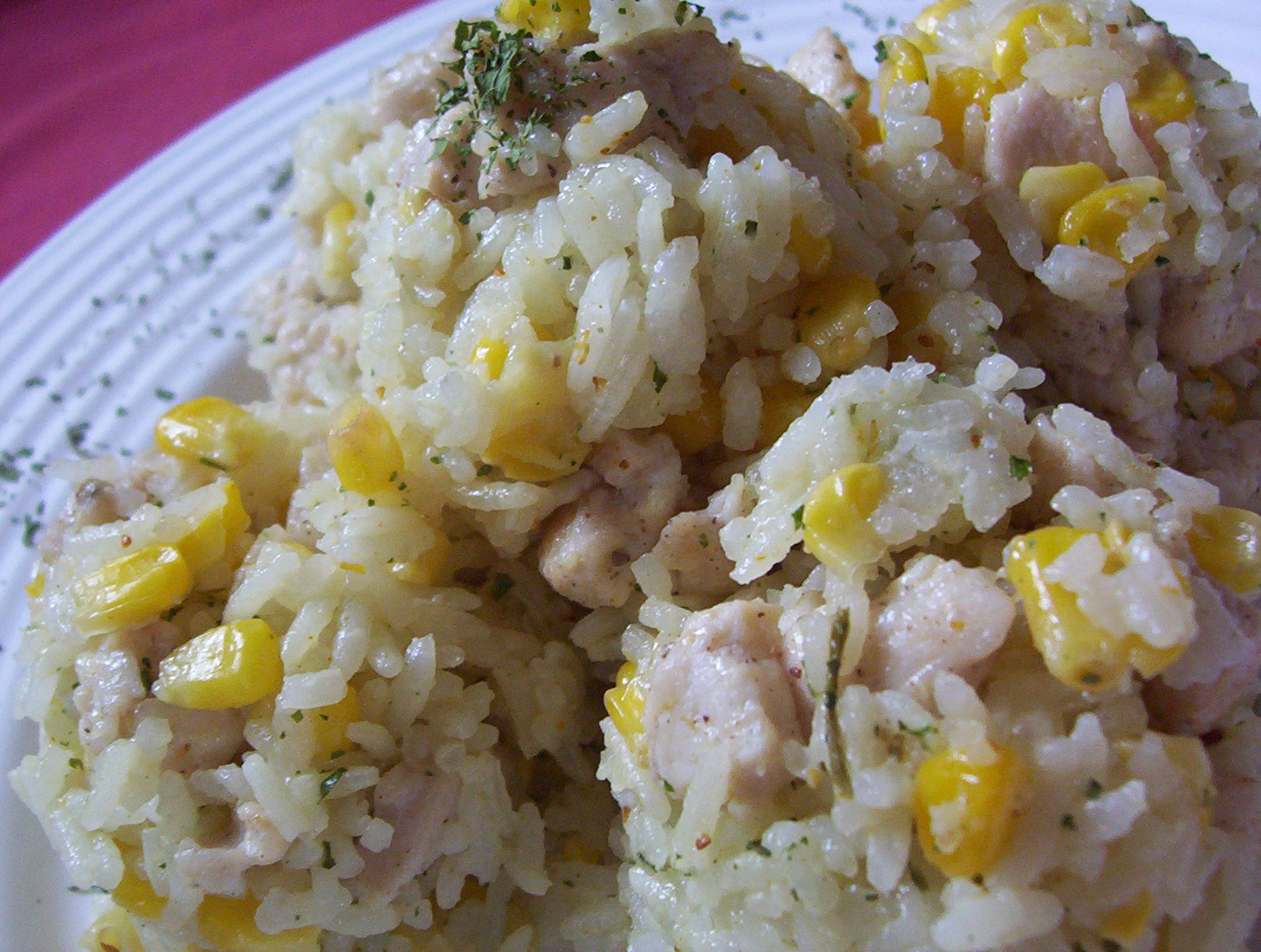 Kuřecí rizoto s kukuřicí
