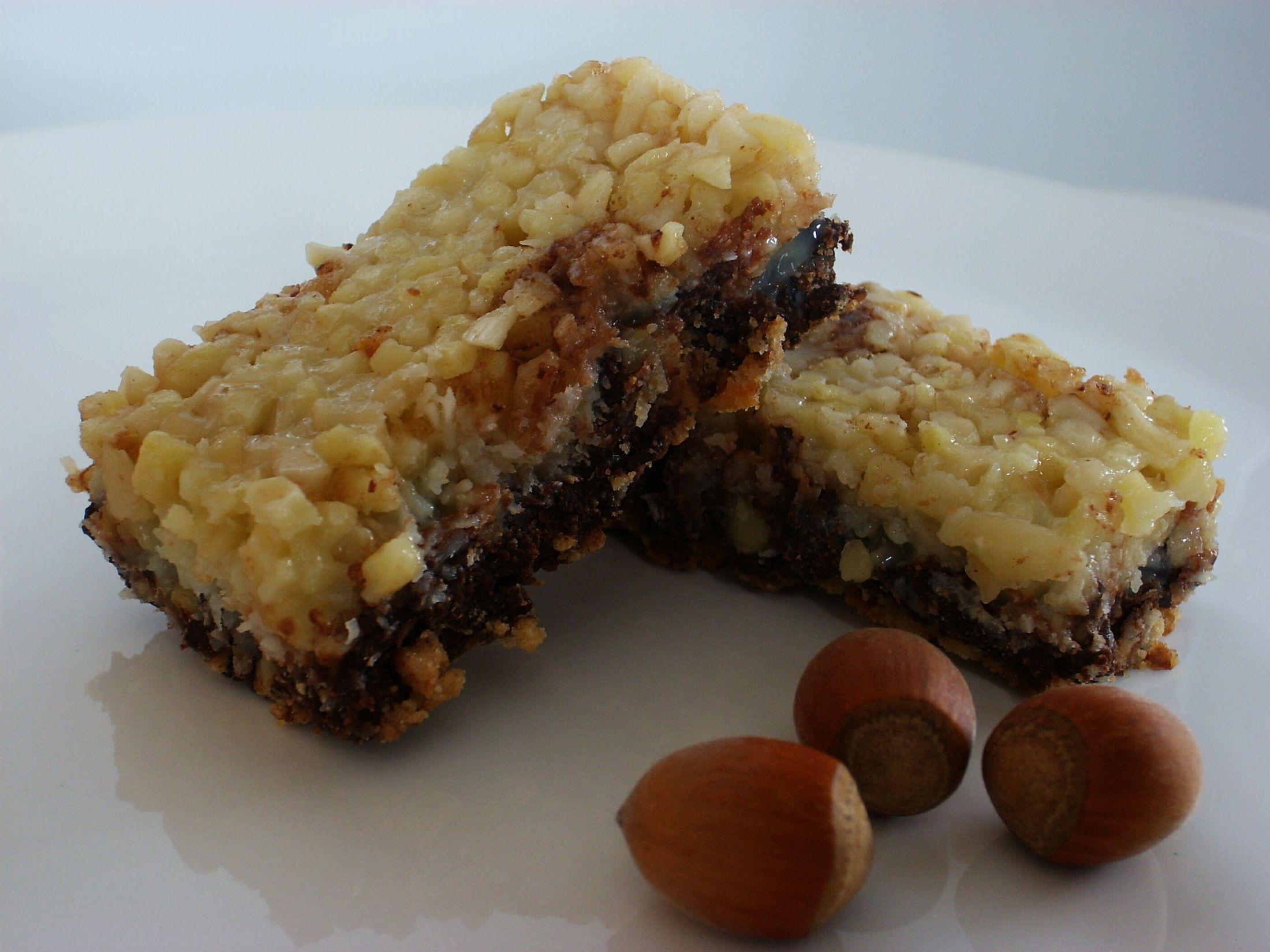 Ořechovo-čokoládové tyčinky