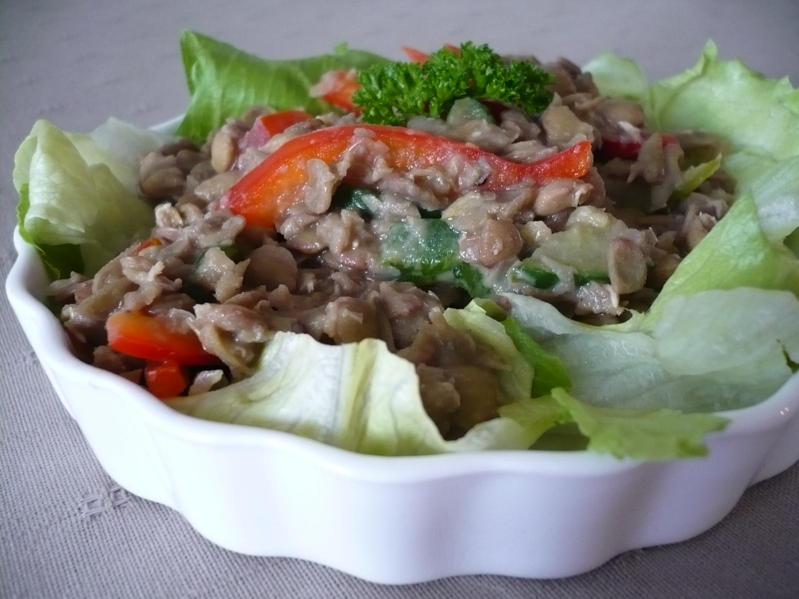 Fotografie receptu: Čočkový salát s paprikami