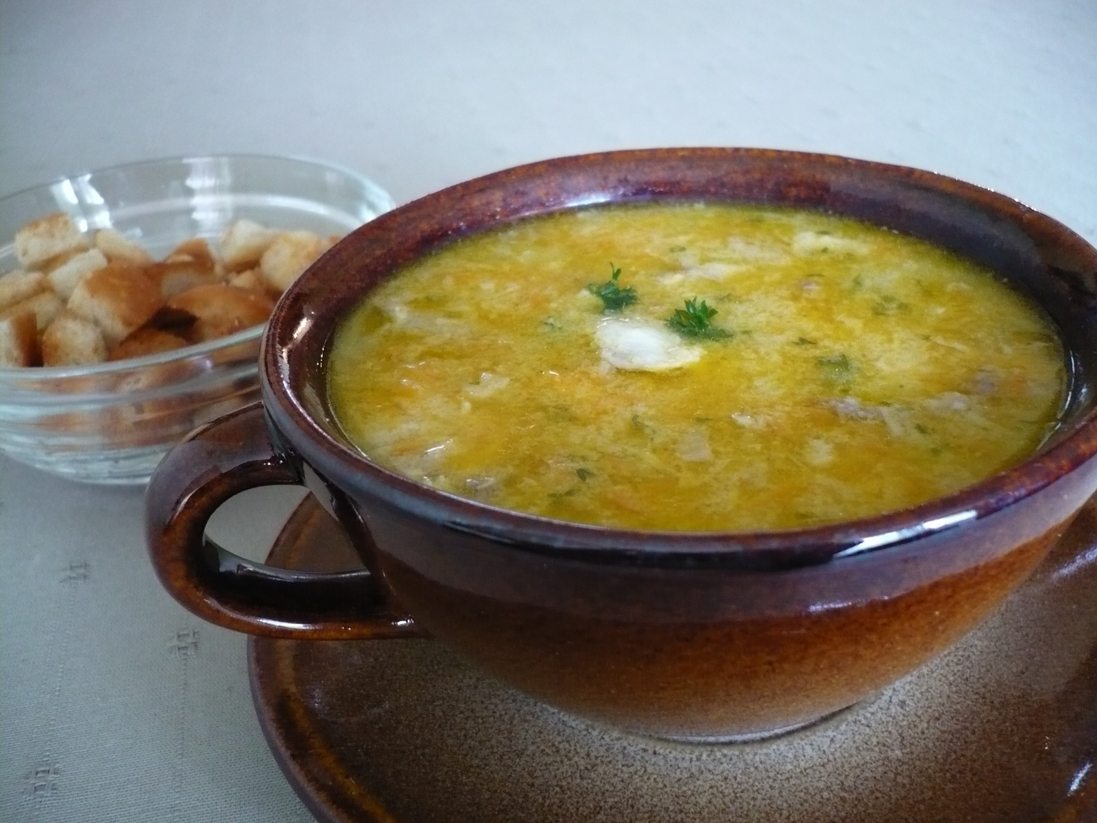 Jemná rybí polévka 1