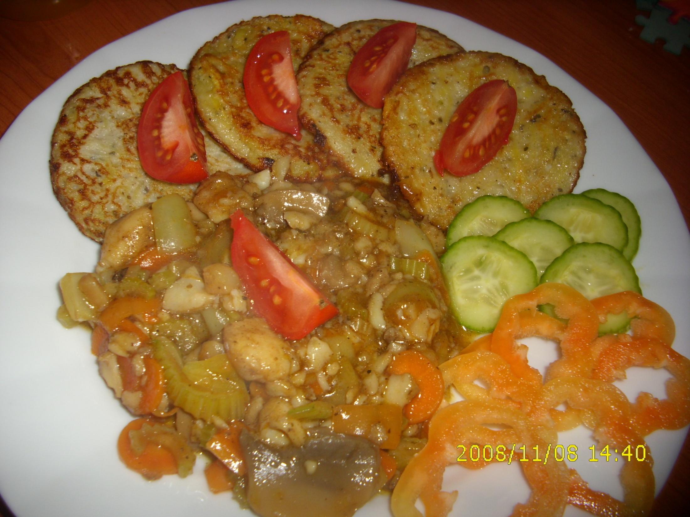Pangas čína s bramboráčky