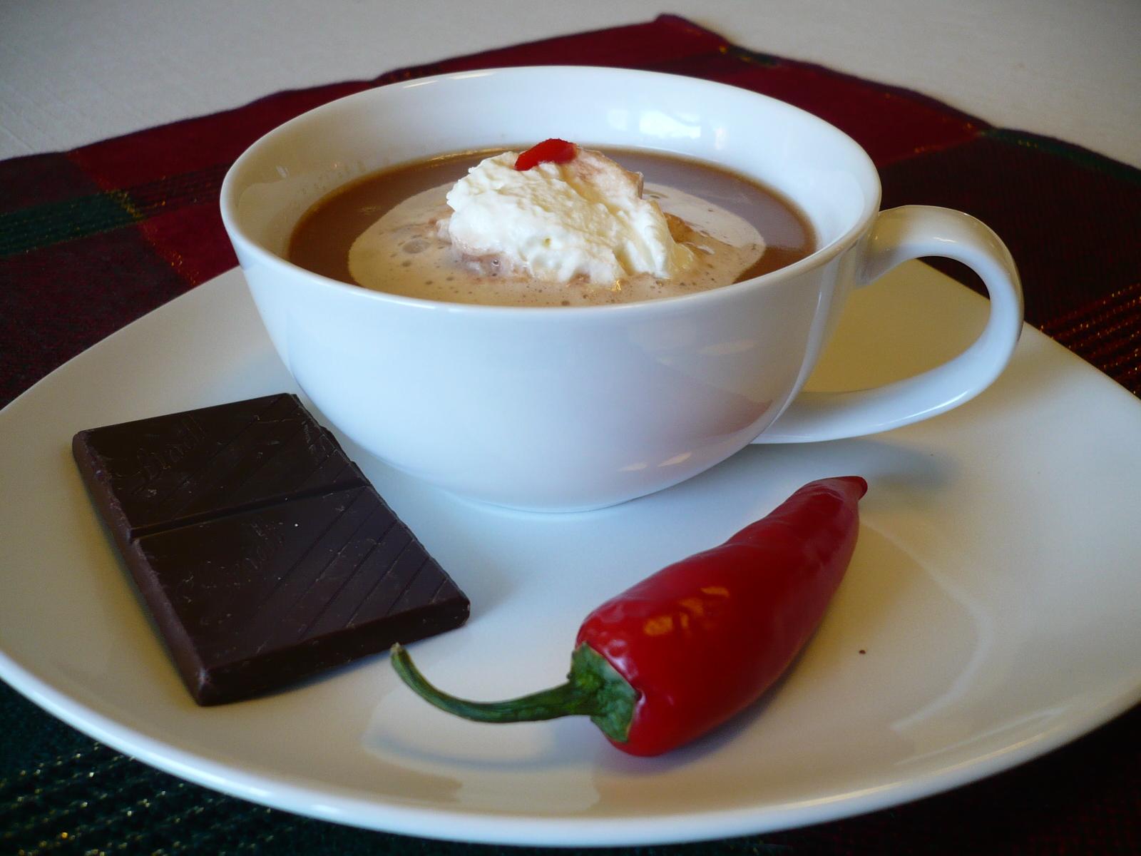 Horká pikantní čokoláda
